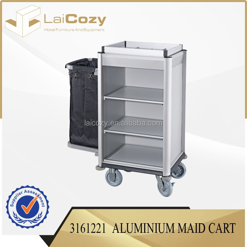 Sell well hotel housekeeping trolley/cleaning trolley cart for hotel/cleaning cart