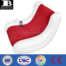 inflatable chair with speakers flocking pvc lounge chairs soft single sofa chair