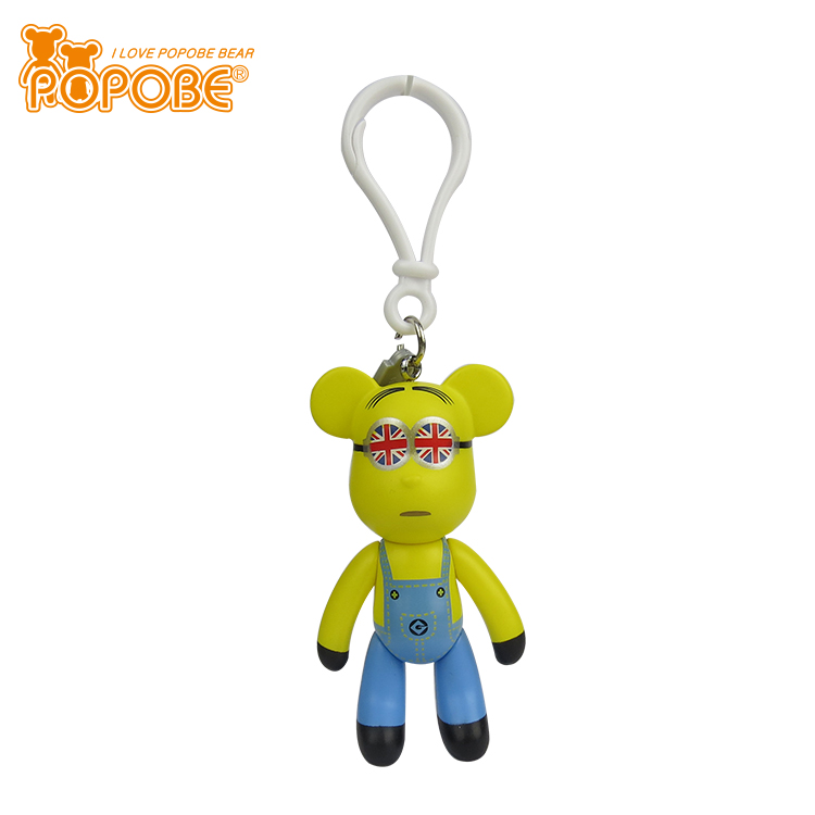 Kids Favorite Cartoon Design Eco- Friendly Plastic Toy High Quality Key Chain