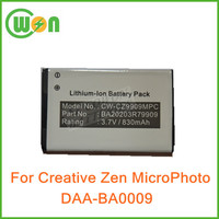 DAA-BA0009 MP3 Battery for Creative Zen Micro Photo BA20203R79909