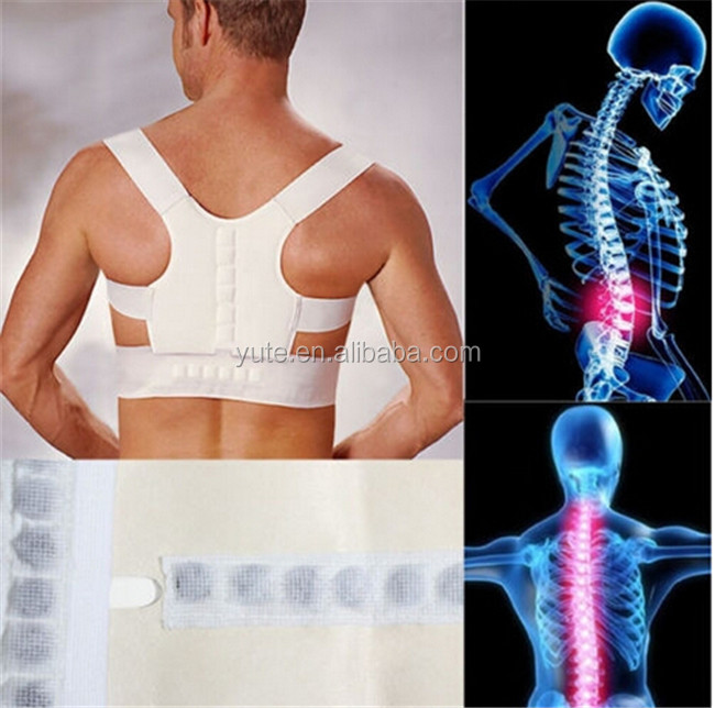 Magnetic Therapy Posture Pain Corrector Body Back Belt Brace Shoulder Support