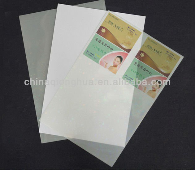 Plastic Colorful packaging PVC Film/Sheet for playing card