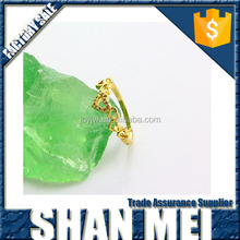 Alibaba new product design of Raw Brass Fashion Romantic Love Gift Heart Shaped engagement Ring Designs for Girls