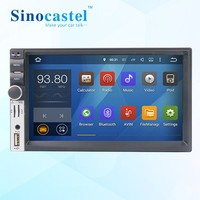 Sinocastel Best Selling 7 inch Touch screen android 5.1.1 quad core 2 din car radio dvd with gps