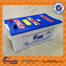 vasworld power dry charge Korea design Long life 12V 220ah auto battery