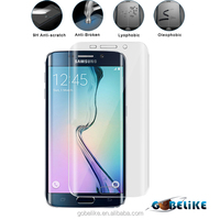 Full cover 3D Clear PET Curved screen protector /Guard for Samsung S6 edge with detail package