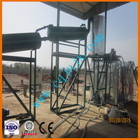 JNC-3 waste engine oil and black oil decolor machine,motor oil refinery to diesel fuel