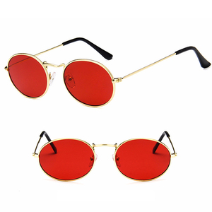 DLL3547 Women Mens High Quality Fashion Gold Metal Unisex Vintage Round Sunglasses
