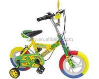 Hebei manufacturer direct yellow girl child bike bicycle/ kids bicycle wholesale/kids sports bike with eva wheel