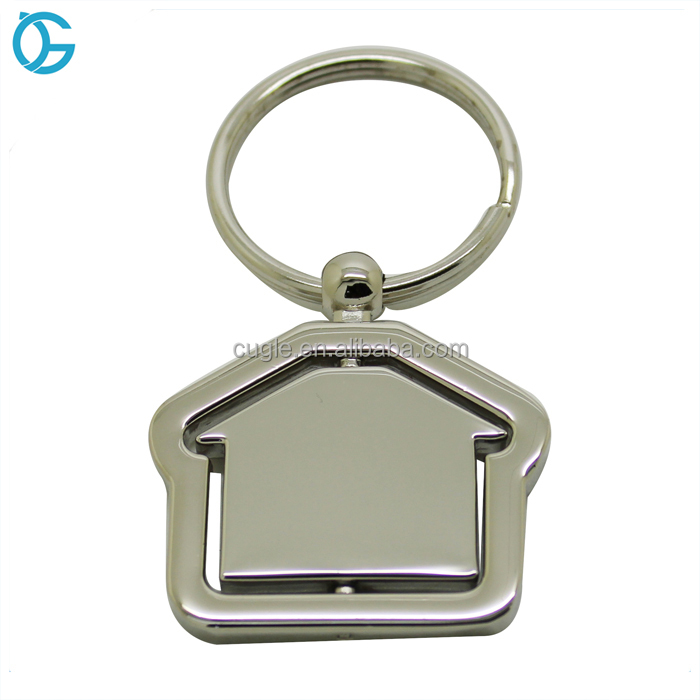 Wholesale Cheap Metal Revolving Spinning Key Chain Rotary Key Ring With Custom Logo