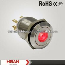 CE ROHS ring illuminated push button switch