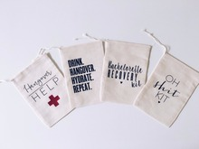 Wholesale Small Packing Pouches Cotton Muslin Drawstring Pouch
