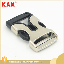 KAM Fashion Zinc Alloy Metal and plastic Adjustable Quick Black Side Release Buckle for bag OEKO BSCI over 30 years manufacture