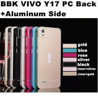 New Listing Acrylic PC Back Plate Aluminum Side Frame Case For BBK Vivo Y17 Y18