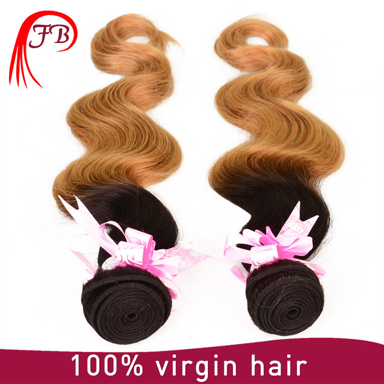2016 New products grade 6a cheap ombre hair extension,100% top quality brazilian 1b/27 body wave hair bundles