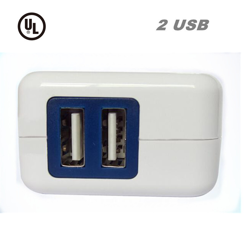 UL LISTED Dual USB Foldable Quick Charge 2.0 Wall Charger