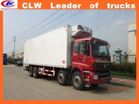 thermo king Refrigeration units 10 Tons Foton Refrigerated Truck 8*4 Foton refrigerated van and truck