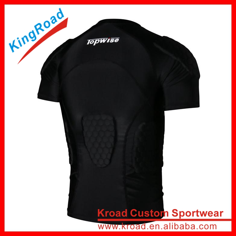 2016 custom made clothing manufacturers men's padding compression shirt design