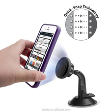 Universal 360 degree suction magnet car phone holder