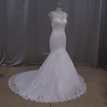 Exquisite handmade plus size wedding dress for fat women