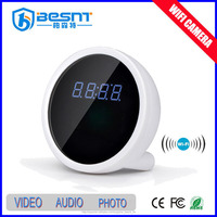Besnt hidden wifi camera table clock wireless mini camera BS-W08A