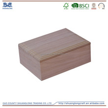 Cheap small unfinished wooden boxes wholesale for crafts , wooden box ded design