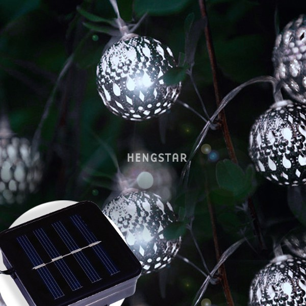 Wholesale 20 christmas large plastic ball string light outdoor Christmas Tree Light