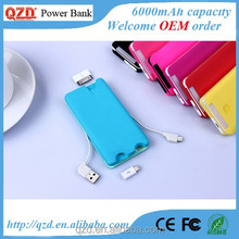 Unique item, 2015 new arrival 6000mah power bank phone charger
