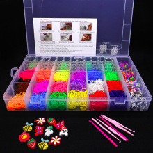 Bulk Cheap Loom Bands Sets, Child Gift Loom DIY Band, Colorful Kids Band Kit