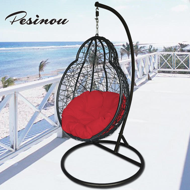 hanging basket chair rattan swing chair two seat patio swing