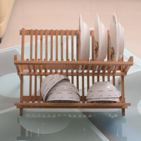 Wholesale Kitchen Basic Holder Bamboo Folding Dish display rack