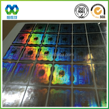 anti counterfeiting for brand protection Birds Pattern Hologram Sticker Label, Tamper Evident Security