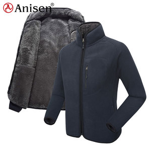 cheap wholesale winter warm thick windproof coat flush sherpa polar fleece men outdoor jacket