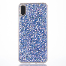 Phone Case for Apple iphone X Case Bling Bling Glitter Rubber TPU Gel Soft Mobile Phone Cases Cover iphoneX phone Shell