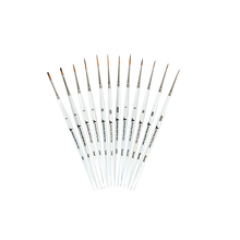 12 miniature synthetic nylon kids artist oil paint brush
