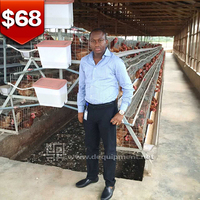 Battery chicken cage for layer poultry farm