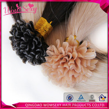 Double Wefts Single Drawn 100% Brazilian Hair 100 cheap remy u tip hair extension wholesale