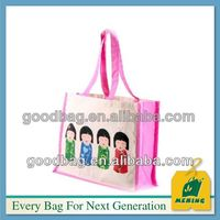 cotton shopper bag MJ-CL-10193 guangzhou factory made in china .