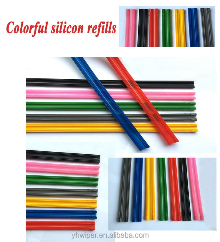 Auto Soft Wiper Blade Colored Windshield Wiper YH-03-1