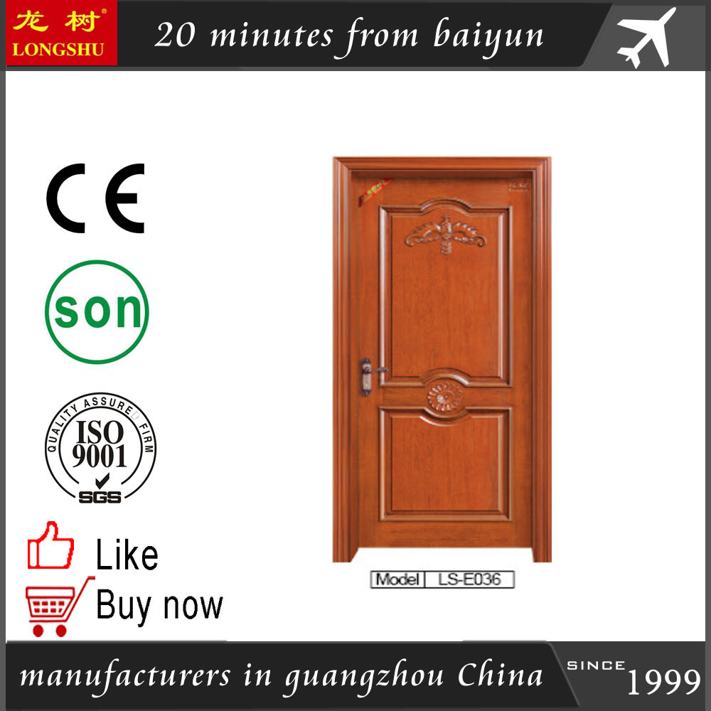 100% teak Wood Door Simple designs main gate designs