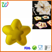 Popular Star shape silicone cupcake liner cupcake mold