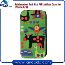 Sublimation leather mobile phone case for iphone5/5s/5G,full size printing