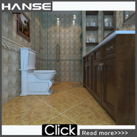 HMS639M wholesale non-slip rustic wall galzed pink ceramic wall tiles bathroom