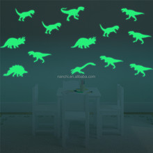 Dinosaur wall stickers glow in the dark children's room living room waterproof removable decoration wall mural