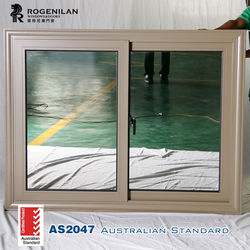 ROGENILAN 88 series cheap aluminum sliding window with mosquito screen