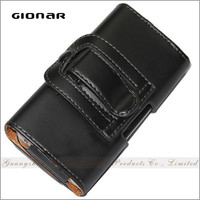 Gionar Brand Hot Sale Men Genuine Leather Transparent Custom Cell Phone Case
