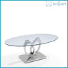 oval glass coffee cup tables(SJ-162)