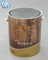 brown printing bucket 5L mini bucket with plastic handle
