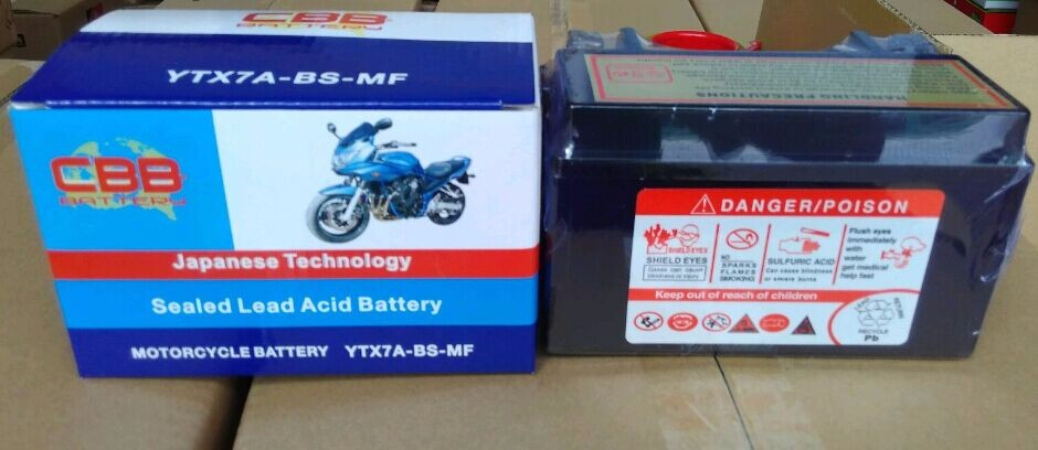 Motorcycle Parts YTX7A-BS Maintenance Free Motorcycle Battery Prices