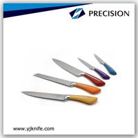 High Quality Colorful Handle Stainless Steel Kitchen Knife Set